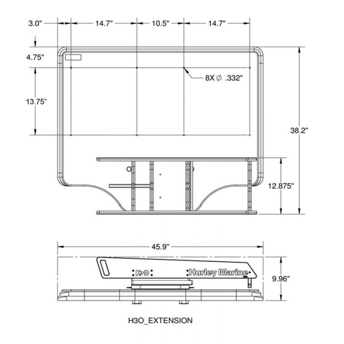 H3O Extension Dimensions